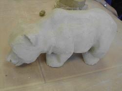 Dieser Keramikbär diente uns als Vorbild