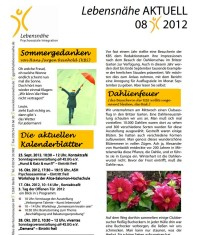 Newsletter Lebensnähe 08/2012