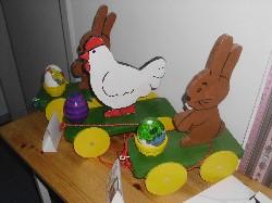 Total süßes Holzspielzeug für Kleinkinder in der Holzwerkstatt gefertigt