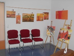 Einige meiner Acrylbilder in der Ausstellung