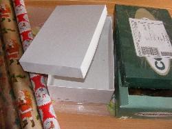 zwei leere Schuhkartons bilden die Grundlage