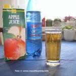 Mit Mineralwasser verdünnter Apfelsaft löscht besser den Durst und hat Mineralien