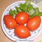 Tomaten und Basilikum zum Abendbrot
