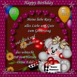 Geburtstagsgeschenk meiner lieben Freundin Edel