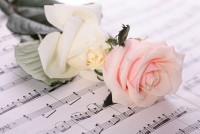 Rose mit Noten - Lebensfreude wiederfinden