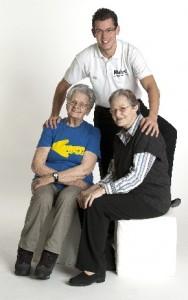Oma Toppelreiter mit ihrer Tochter und ihrem Enkel