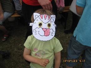 Katzen-Maske selbst ausgemalt