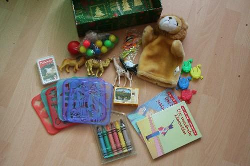 Weihnachten im Schuhkarton 2014 - Geschenke für einen Jungen