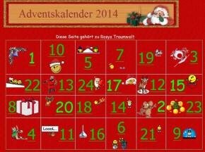 Mein Adventskalender 2014 erwartet Sie
