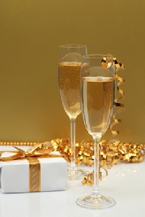 Neues Jahr mit viel Gesundheit, Lebensfreude und Erfolg und positive Gedanken