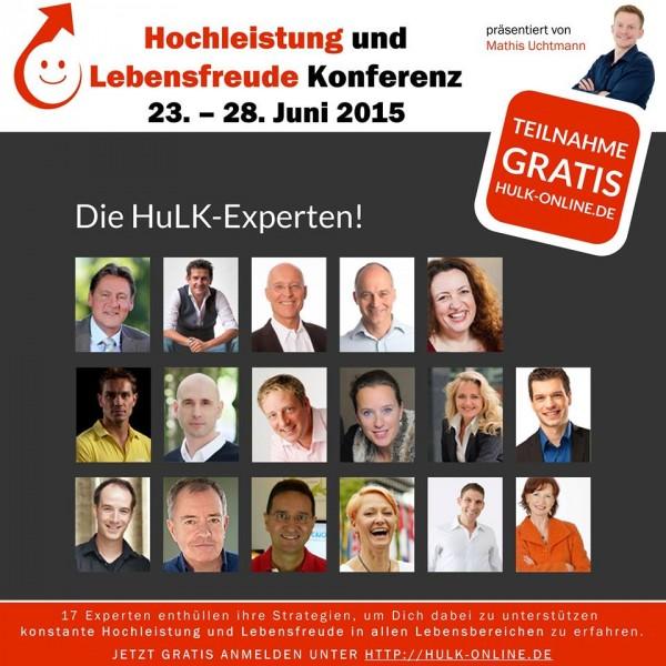 HULK - Online Hochleistung und Lebensfreude Konferenz 2015 - Die Sprecher