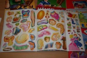 in vielen der Bücher sind wunderschöne Sticker