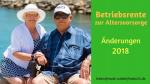 Betriebsrente zur Altersvorsorge Änderungen 2018